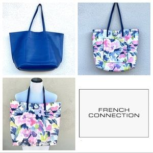 FRENCH CONNECTION oversized TOTE REVERSIBLE floral